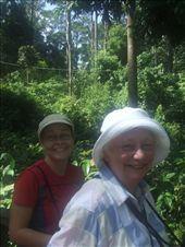 Emma and Joan awaiting the arrrival of the orangutans at Sepilok.: by steve_and_emma, Views[237]