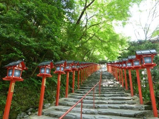 The entrance to Kibune shrine.