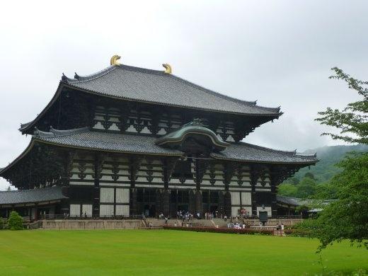 Todai-ji Daibutsu-den in Nara, the biggest wooden building in the world.