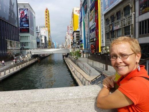 Emma in downtown Osaka.