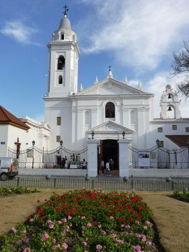 The church at Cementerio de la Recoleta.