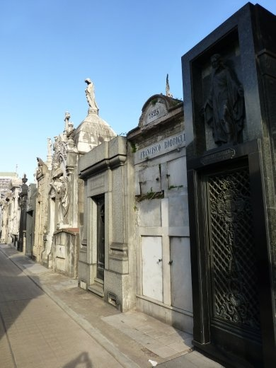 The city of the dead, a very strange place.