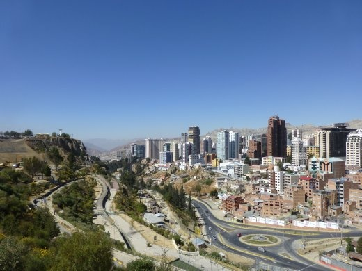 A view of La Paz city from the Urban Park.