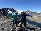 Condor Mountain is in the background, hence the silly pose.: by steve_and_emma, Views[238]