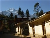 The small town is dominated by snow-capped peaks.: by steve_and_emma, Views[242]