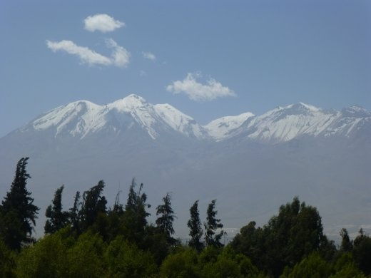 Arequipa is surrounded by mountains, this is Chichani.