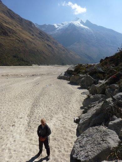 Beach trekking.