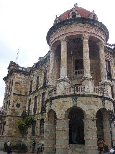 Colonial buildings in Cuenca.