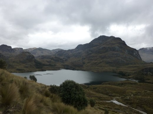 The lake next to Cajas NP HQ.