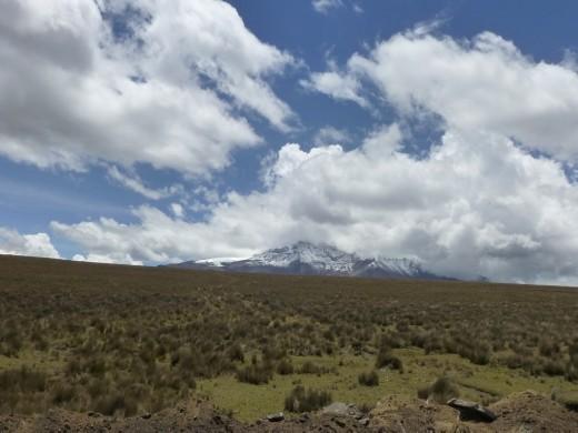 Chimbarazo volcano on the way to Guaranda.