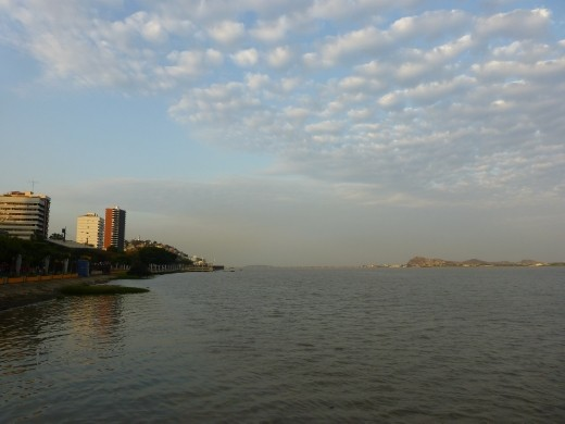 The waterfront at Guayaquil.
