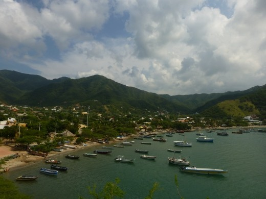 Taganga is set in a nice bay.