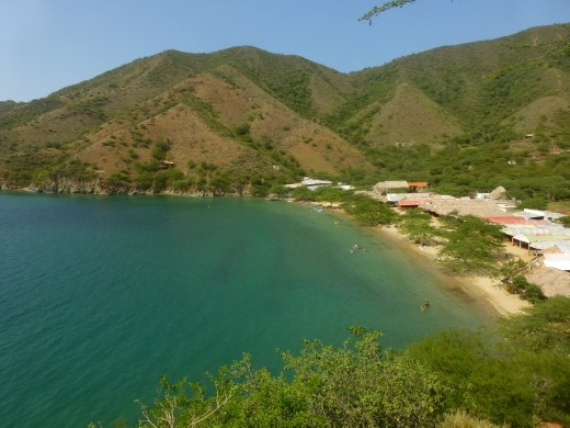 We walked over the headland to Playa Grande.
