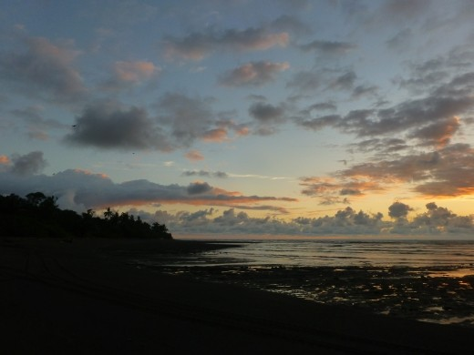 Sunset in Corcovado.