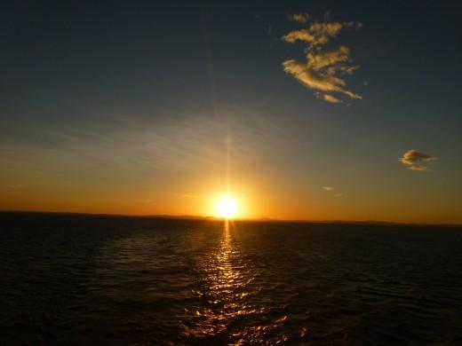 Sunset on Lago de Nicaragua.