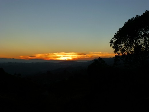 Sun rise on the way to Tajumulco.