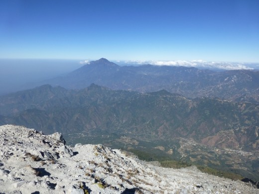 The view to Mexico from the summit.