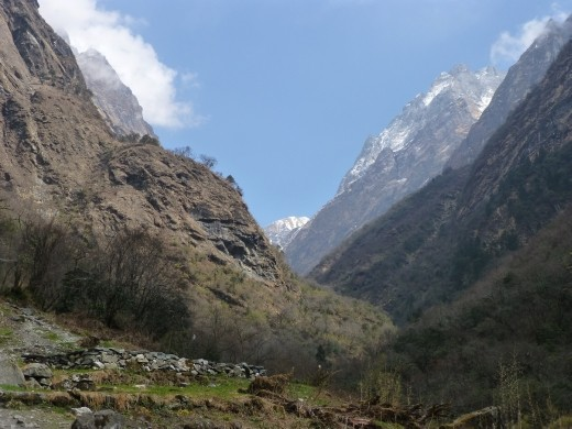 Heading up the valley towards another place called Deurali.