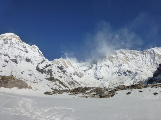 ABC is surrounded by huge 7-8,000 m peaks.