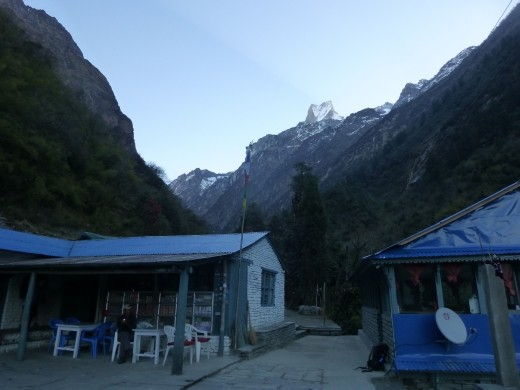 We stayed in Dobhan on the way down and had a hot shower, yay!