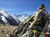 Prayer flags marking Periche pass.: by steve_and_emma, Views[275]