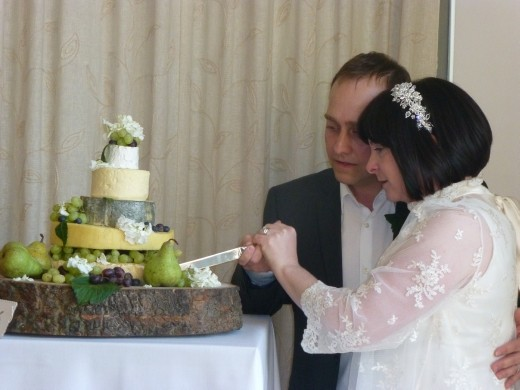 Who cut the cheese? A cake of cheese, what a brilliant idea.