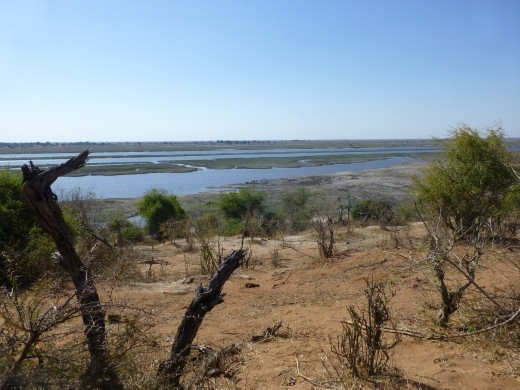 Looking across Chobe NP towards the Chobe river.