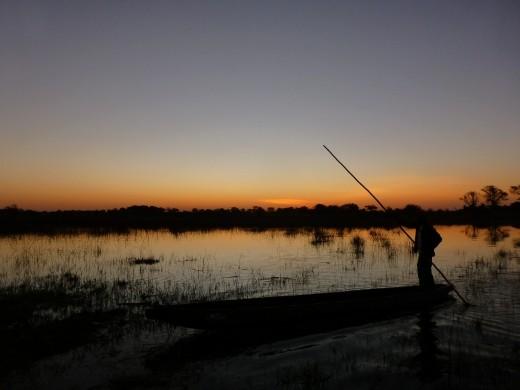 The delta at dusk.