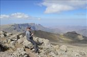 Emma taking a rest on the top of Bwhait, at over 4400m the 4th highest peak in Ethiopia and just 150m short of the highest. Shame we had to go down to 2500m then back up to 4553!: by steve_and_emma, Views[190]