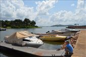 Emma waiting for the boat to take us to lagoon Resort.: by steve_and_emma, Views[175]