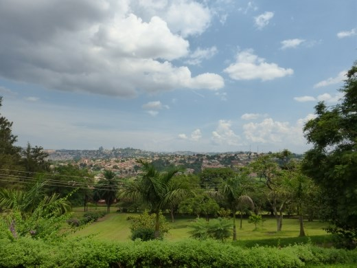 There are fantastic views of kampala from the temple.