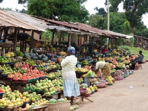 A good place to stock up on the way back to kampala. The produce is a fraction of the price!