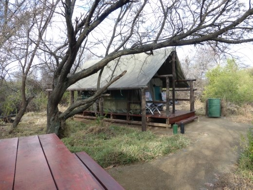 After camping in the Karoo we enjoyed our bit of glamping!