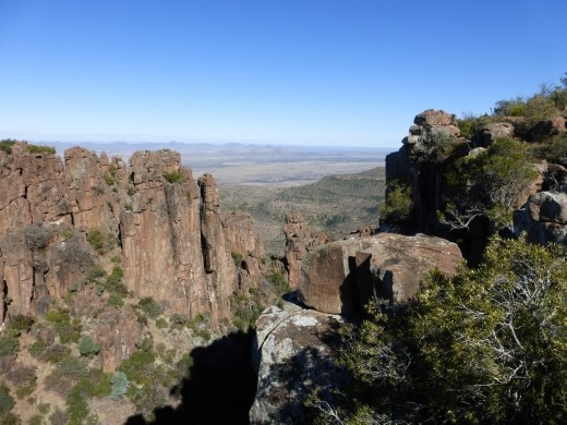 The view from the view point at the 'valley of Desolation' was stunning.