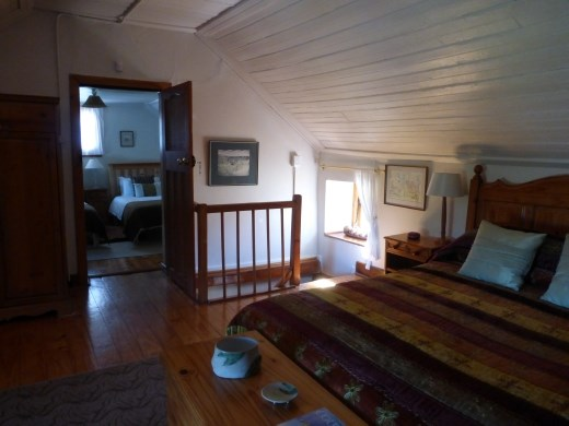 The main bedroom in the cottage.