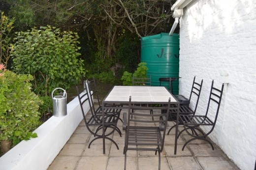 The patio area outside Morley House has been spruced up.