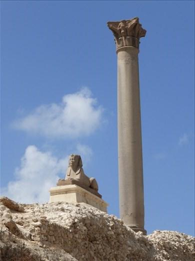 Ancient ruins in Alexandria.