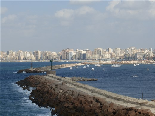 Looking across the bay in Alexandria.
