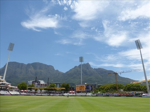 What a setting for a cricket match.