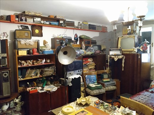 A large collection of items from the communist era in Romania.