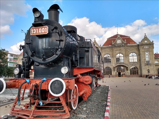 The train we got to Arad was a bit more modern than this one.