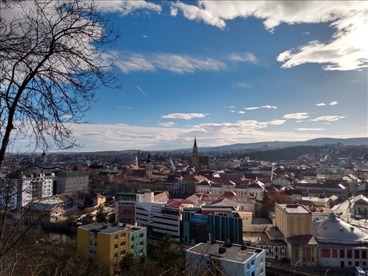 A view of Cluj from Cetatuia Hill where the old citadel once stood.