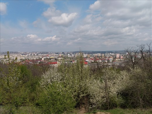View of Iasi on the way to Cetatuia Monastery.