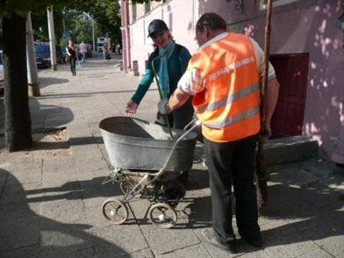 recycling old stuff for new purposes in Vilnius