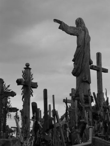 ...it's actually more than a 1.000 crosses and they were put up not only for religious but also for political reasons during the Sovjet time