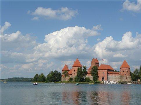 kind of a swimming castle - in trakai, near vilnius
