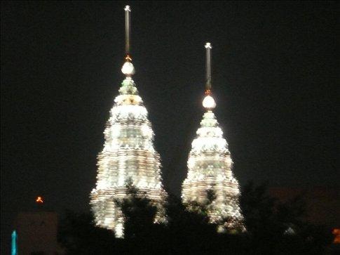 petronas towers, kuala lumpur, by night