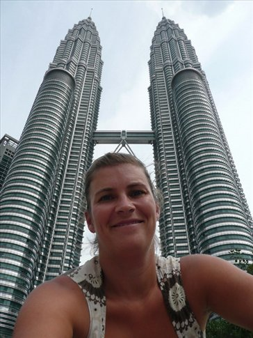 petronas towers in the back, me in the front