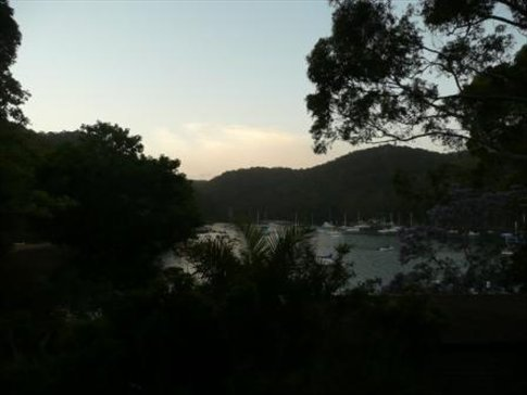 on an island in the north of sydney