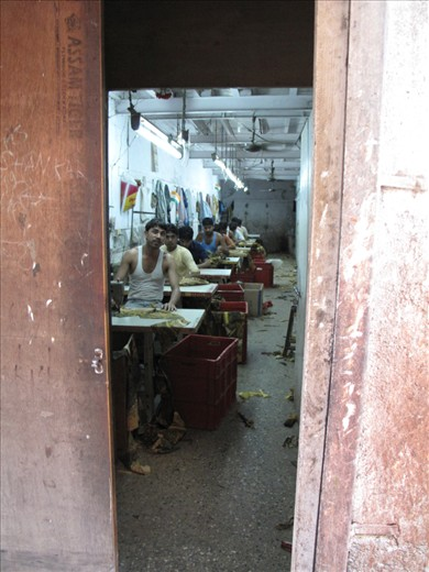 The slum is divided into two sectors, the residential and productive areas: textile and recycling are two of the main activities held here. Space is limited and over-exploited and